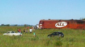 Tren arrolló a camión