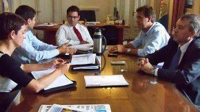 Maximino con el ministro de Seguridad