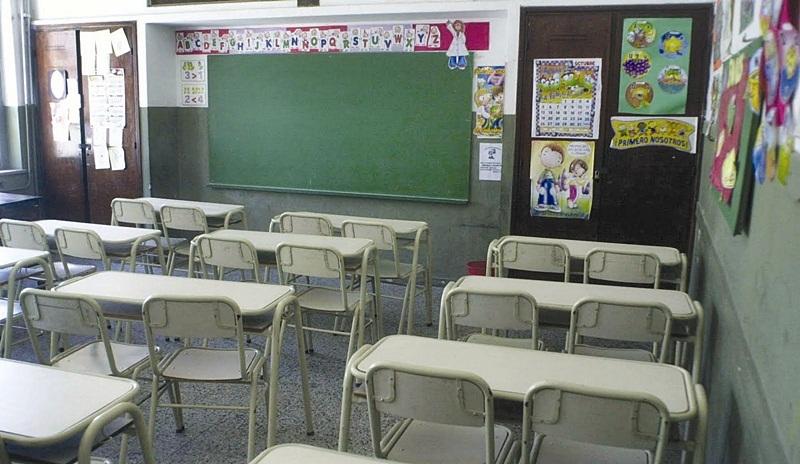 aulas vacías paro docente santa fe
