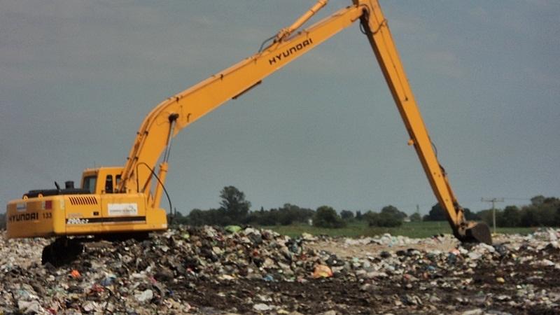 La máquina en pleno trabajo.FOTO Prensa MF