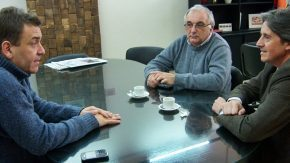 Reunión del intendente con el secretario del Sistema Metalmecánico