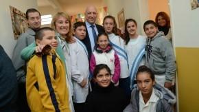 Inauguró en Elortondo un Centro de Cuidado Infantil