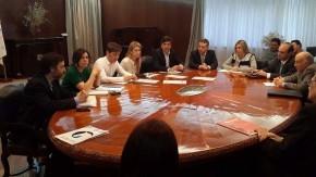 Sacnun junto a los ministros Kiciloff y Giorgi