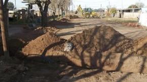 Concluyeron trabajos de extensión de redes de agua potable