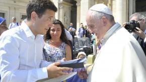 Franco con el Papa Francisco