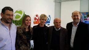 Sacnun con Karina Rabolini y Omar Perotti en Casilda