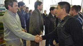 Pieroni participó de la entrega de chalecos antibalas a fuerzas policiales de la Región 5