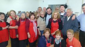 Presencia con jubilados en María Teresa y con Olimpia y becas deportivas