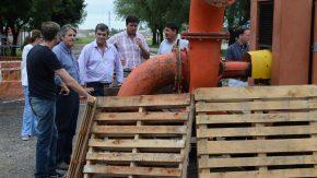 Garibay recorrió localidades del departamento General López afectadas por el temporal