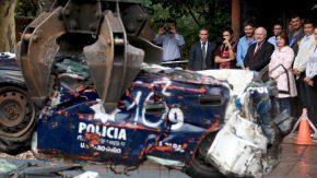 Lifschitz y Bullrich evaluaron el desempeño de las fuerzas de seguridad y firmaron convenio para compactar vehículos en desuso