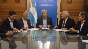 Lifschitz, Frigerio y Schiaretti firmaron un convenio para la obra de adecuación del Canal San Antonio en el límite con Córdoba