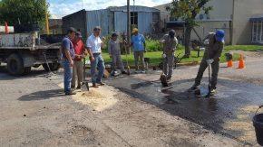 Trabajos preliminares para repavimentarSan Juan entre Libertad y San Martín