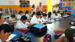 El senador Enrico respaldará talleres de expresión que se dictarán en Escuela 1189