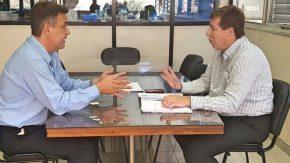 Maximino transmitió inquietudes y reclamos de los usuarios al secretario de Transporte