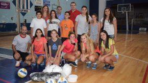 Pieroni apoyando disciplinas deportivas de Rufino