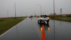 Interrumpen el tránsito en la Ruta 90 a la altura de Melincué