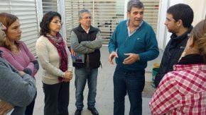 Pieroni, Gianetti y Laferrara junto a la comunidad educativa del Instituto Secundario