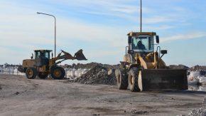 Siguen los trabajos de protección urbana de Melincué