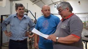 Pieroni sigue acompañando a las instituciones de San Gregorio