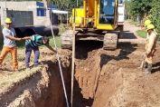 Plan de Infraestructura Social barrio Fredriksson: avanzan obras de cordón cuneta, desagües pluviales y agua potable