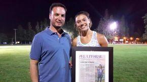 Guillermina Cossia una deportista que brilla en la pista y en la escuela