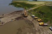 El senador Enrico confirmó la culminación de una importante obra hídrica en la cuenca de Lagunas las Encadenadas