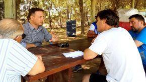 El senador Enrico visitó a Carlos Dose para seguir con su colaboración inquebrantable con todos los clubes de la región