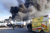 """El jefe de bomberos dijo que """"no hay peligrosidad por el humo"""""""