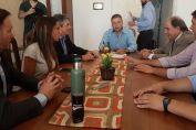 El senador Enrico y la Comuna en búsqueda de obras hídricas y arquitectónicas