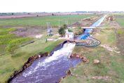 Enrico anunció que la provincia acordó con nación $80 millones para potenciar el sistema de bombeo de la Laguna Melincué