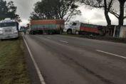 Despistó un camión cerca del acceso a Chovet