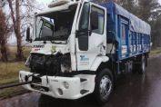 Siniestro vial entre dos camiones en RN 33 en cercanías de Chovet