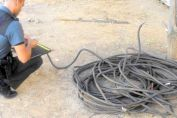 Se robaron 8000 metros de cables