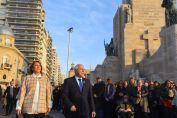 Lifschitz encabezó en Rosario el acto por el Día de la Bandera