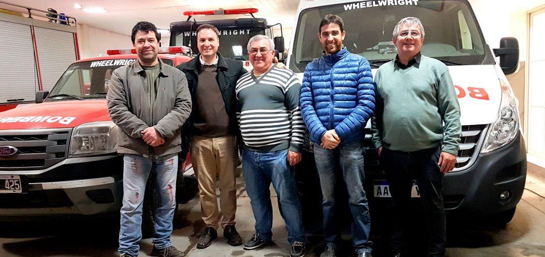 El senador Enrico continúa respaldando los proyectos de todos los bomberos de la región