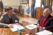 Enrico y Lifschitz se encontraron para evaluar las obras del Departamento