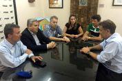 Maximino se reunió con el ministro de Gobierno Pablo Farías