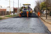 Barrios Carlos Casado e Islas Malvinas: continúa la pavimentación y repavimentación de calles