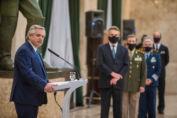 El presidente Alberto Fernández anunció una histórica regularización salarial de las Fuerzas Armadas