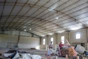 Una obra para todo el pueblo: avanzan los trabajos en el gimnasio de la Escuela Nº 174 de Diego de Alvear