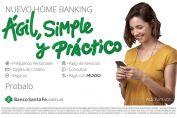 """""""Ágil, simple y práctico"""": El Banco Santa Fe presentó su nuevo homebanking"""