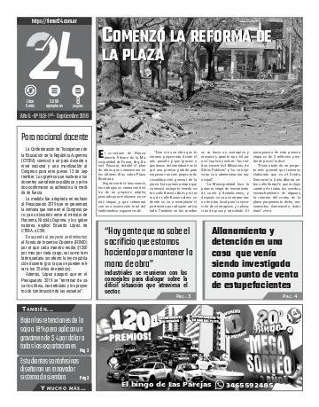 Tapa. Firmat24 periódico. Edición Nro 159.